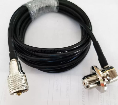 Extra Long 10m (32 feet) UHF PL259 Male to UHF SO239 Female Connector for Car SUV, TRUCK Mobile Radio Antenna,  RG58 Coax Cable
