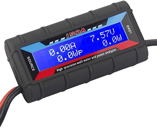 DX Watt Meter, DC Inline Power Analyzer, 60A Continuous (150A PEP) , 12 Gauge,