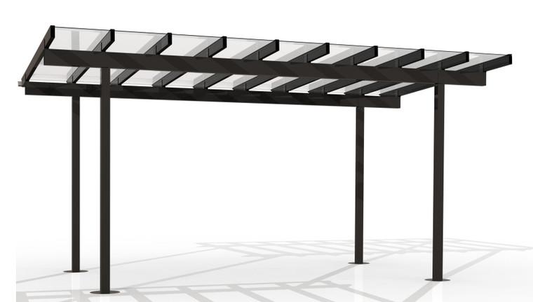 Kitset Pergolas - 5.446m wide, 9 panels