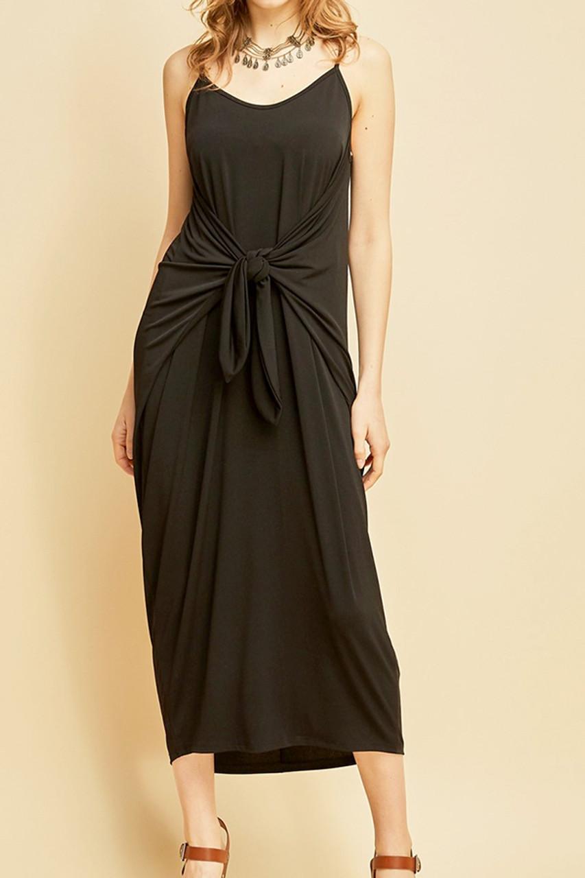 596e275a00068 Black Spaghetti Strap Maxi Dress - Omni Chic