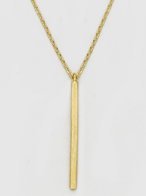 Linear Bar Dangle Delicate Necklaces
