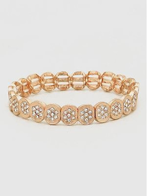 Crystal Pave Oval Shape Stretch Bracelets