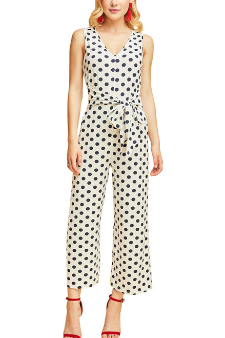 Navy Blue Polka Dot JumpSuit