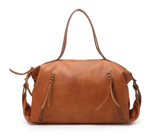 Cylinder Satchel (Brown)