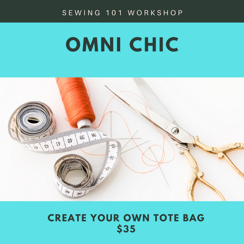 Sewing 101 Workshop: Create your Own Tote Bag