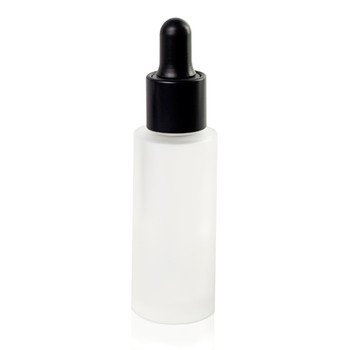 LUMSON CIRCUS GLASS FROSTED BLACK ON BLACK DROPPER BOTTLE 30ML
