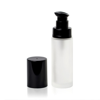 LUMSON CIRCUS GLASS FROSTED BOTTLE BLACK PUMP 30ML