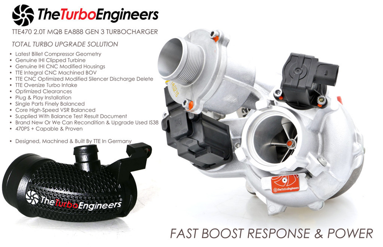 The Turbo Engineers - TTE470 Hybrid IS38 Turbo Charger - Ecotune