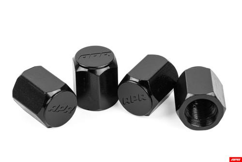 APR Tyre Valve Stem Caps - Black