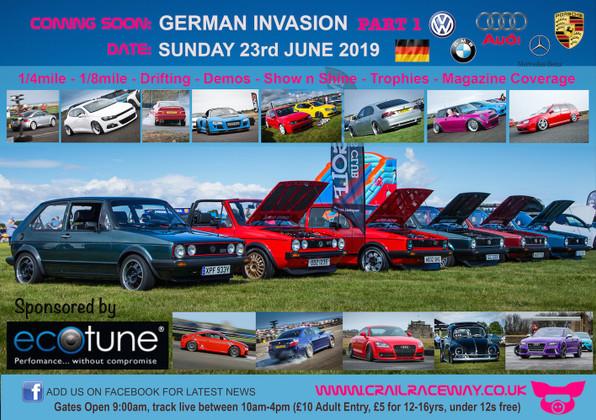GERMAN INVASION HITS CRAIL RACEWAY ON SUNDAY 23RD JUNE