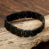 "8.0"" Inch Length - Mens Tungsten Carbide Bracelet - Solid All Black Tungsten Men's Link Bracelet"