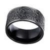 (8mm)  Unisex or Men's Titanium / Stainless Steel Wedding ring band. Ancient Dragon, White Tiger, etc. Carved Designs