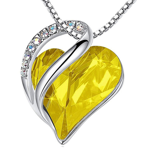 yellow boho jewelry silver chain valentine/'s day gift for her november birthstone necklace Raw citrine pendant