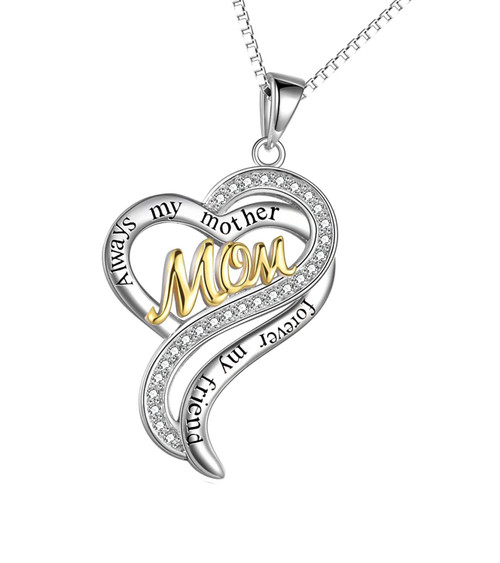 Gold and Cubic Zirconia Always /& Forever Carded Infinity Necklace Mother/'s Day