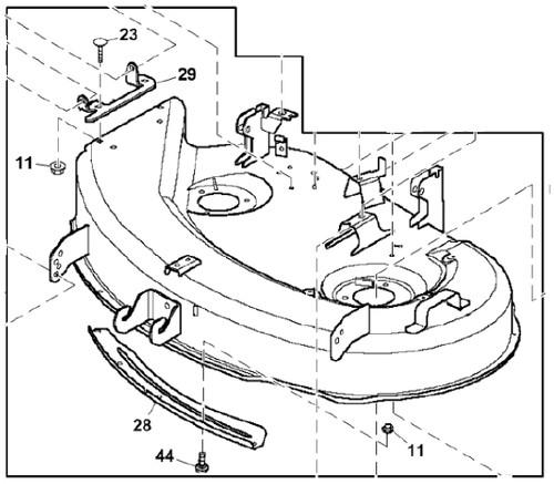 John Deere Mower Deck Part Number AM135649