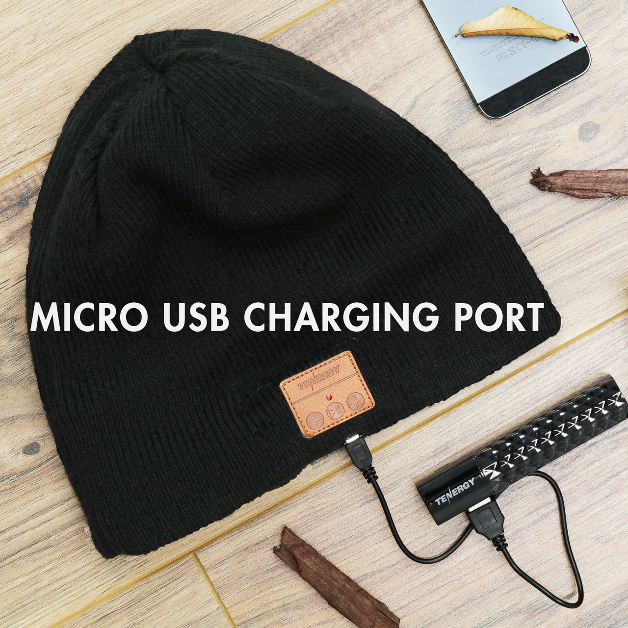 Bluetooth Beanie Braid Cable Knit