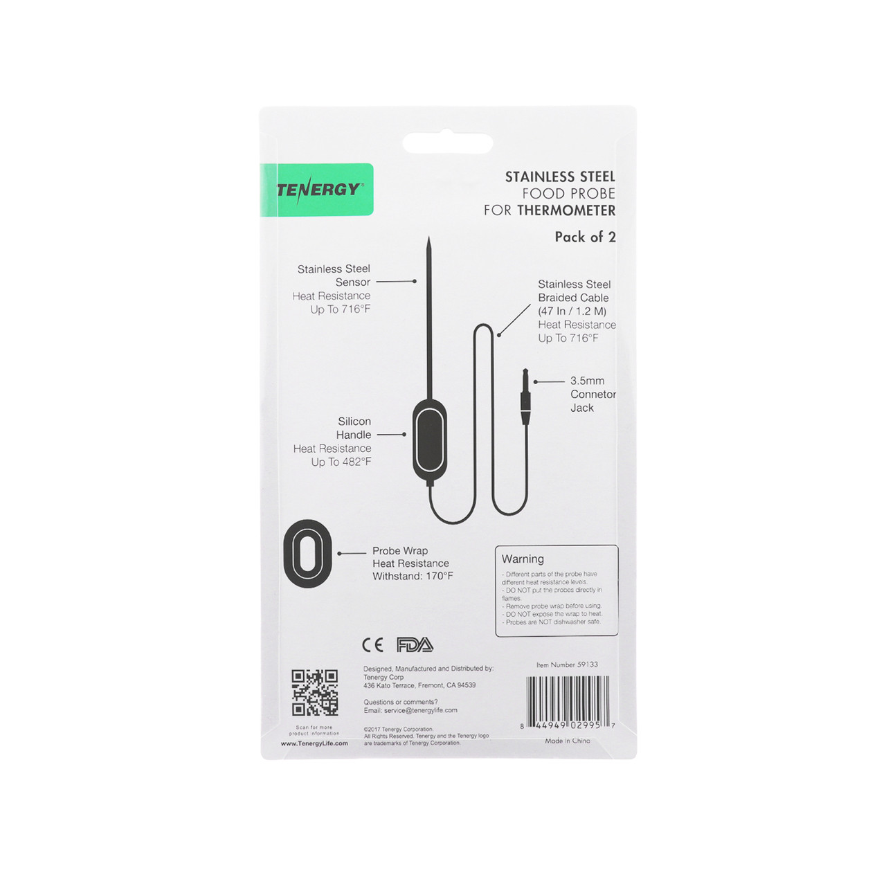 Stainless Steel Probes for Solis Smart Thermometer