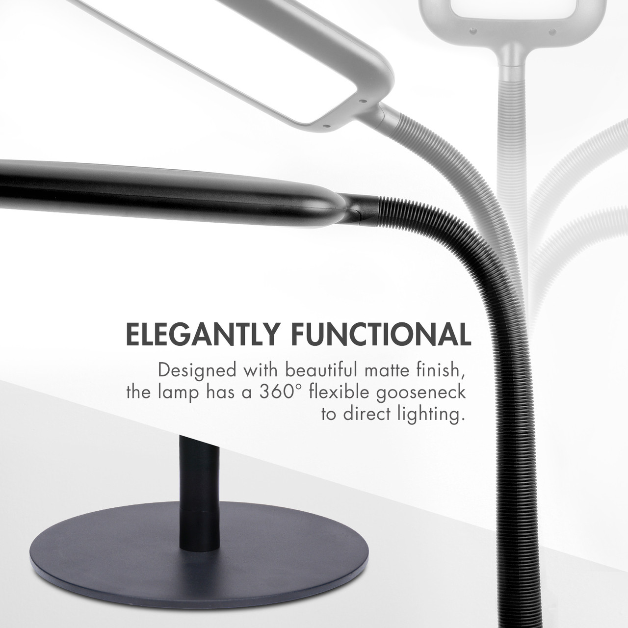 2 in 1 Dimmable LED Floor or Desk Lamp