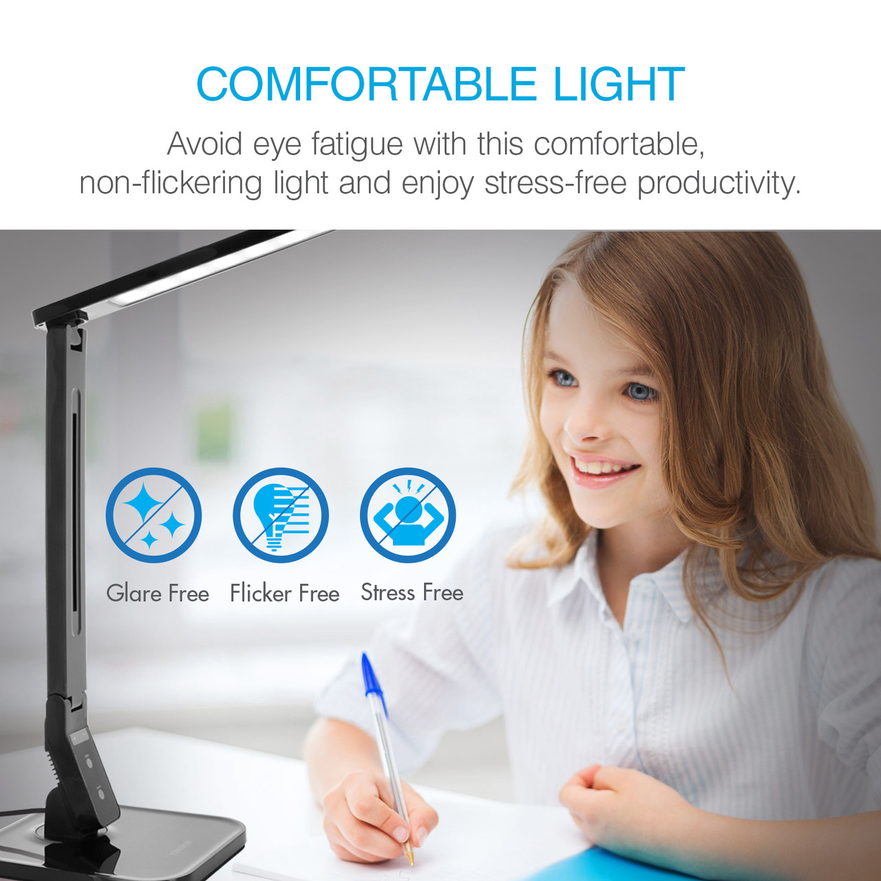 7W Dimmable Desk Lamp