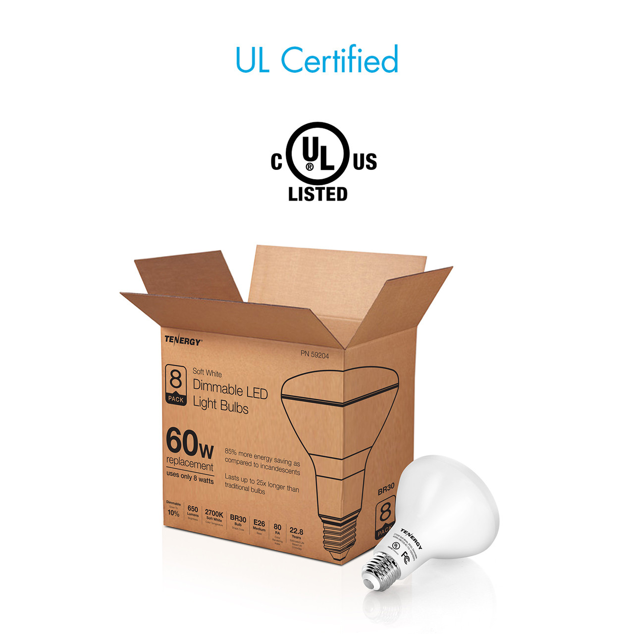 8W Dimmable LED Flood Light 2700K (Soft White)