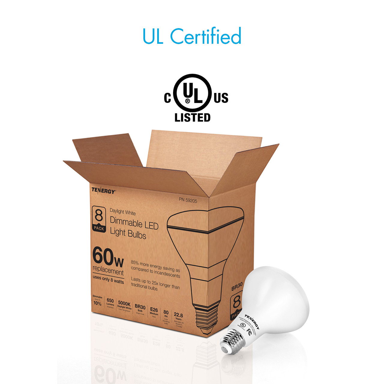 8W Dimmable LED Flood Light 5000K (Daylight White)