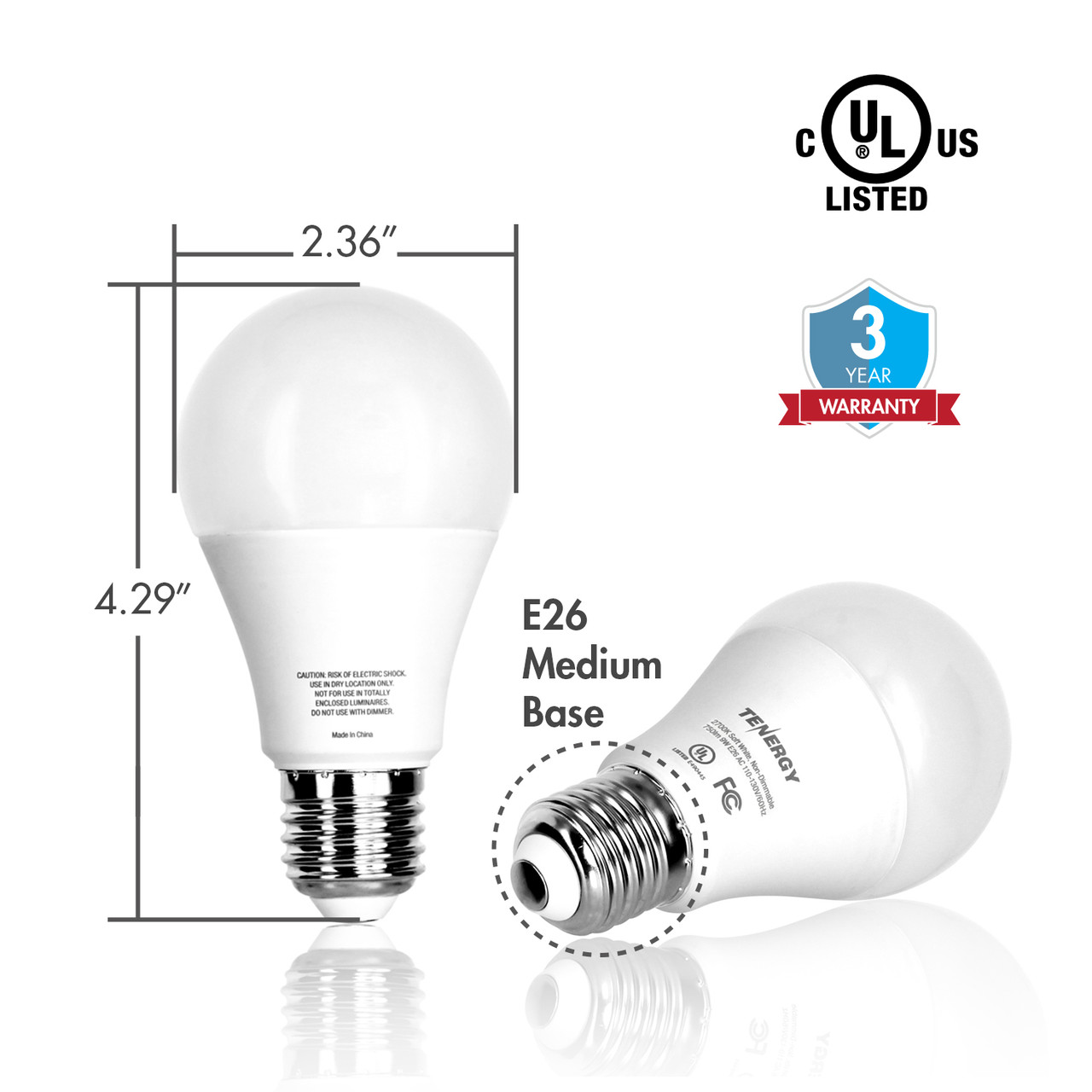 9W LED Bulb 2700K (Soft White)