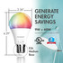 Tenergy Smart WiFi Light Bulb with White and Color Ambiance