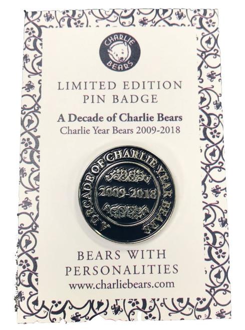Pin Badge - Decade of Charlie Bears