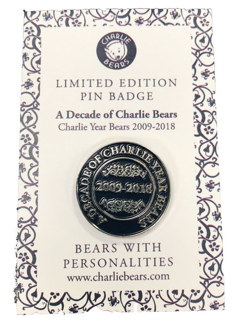 Pin Badge - Decade of Charlie Bears