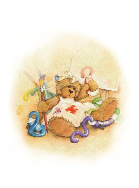 Alice's Bear Shop Art Print - Sandy Paints a Picture