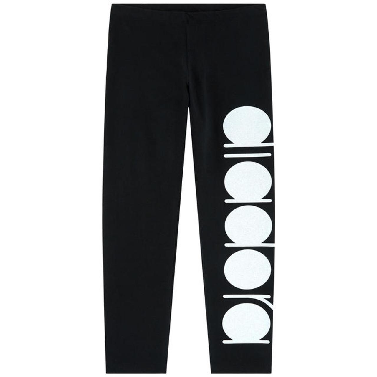 51ea110d7b8caa Black Glitter Logo Leggings - Coco Childrenswear
