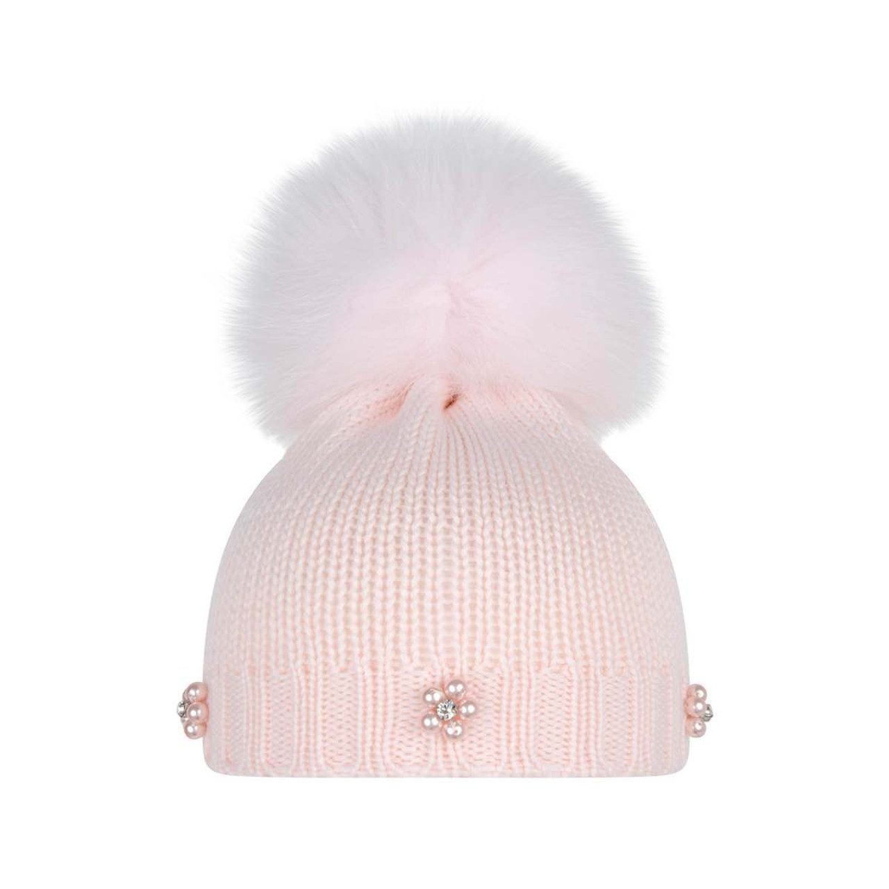 a41a68466 Girls Pink Pom Pom Hat