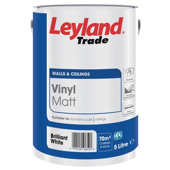 Leyland vinyl matt - Brilliant white or Magnolia