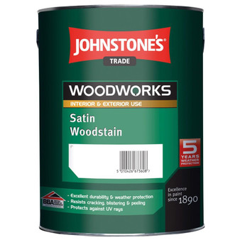 Johnstone's Woodworks satin woodstain