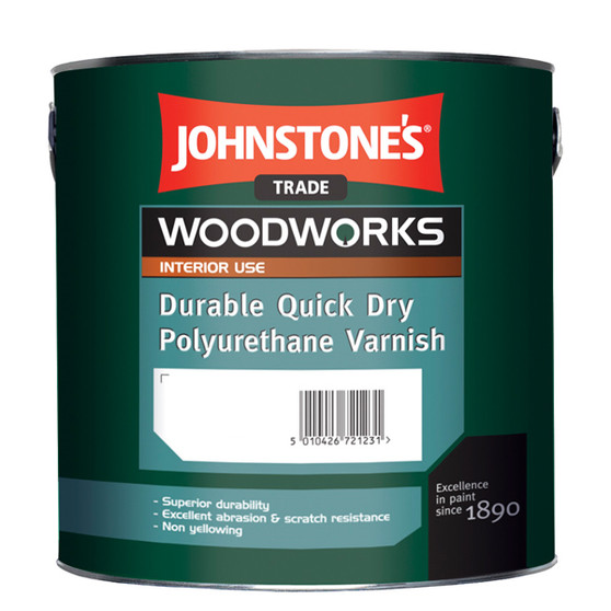 Johnstone's Woodworks durable quick dry polyurethane varnish - Clear Gloss