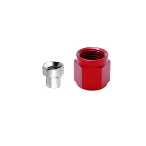 3an Tube Nut & Sleeve Red