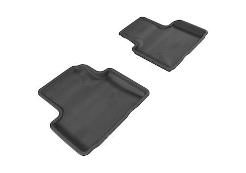 3D MAXpider 2007-2015 Infiniti Q40/G35/37 Kagu 2nd Row Floormats - Black