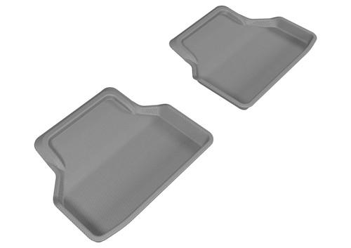 3D MAXpider 2004-2010 BMW 5 Series E60 Kagu 2nd Row Floormats - Gray