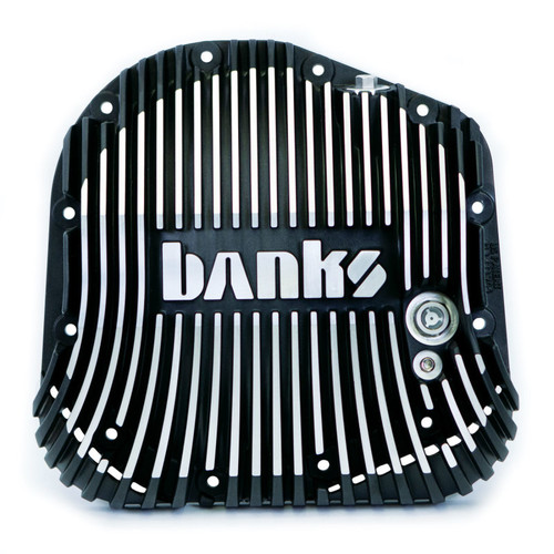 Banks 85-19 Ford F250/ F350 10.25in 12 Bolt Black Milled Differential Cover Kit
