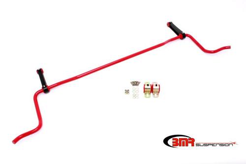BMR 05-10 S197 Mustang Rear Solid 22mm Sway Bar Kit w/ Bushings & Billet Links - Red