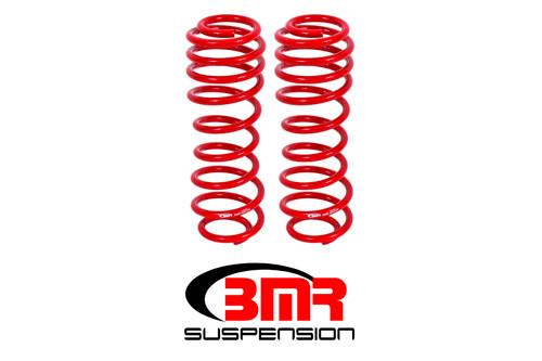 BMR 05-14 S197 Mustang GT/GT500 Rear Performance/Drag Lowering Springs - Red
