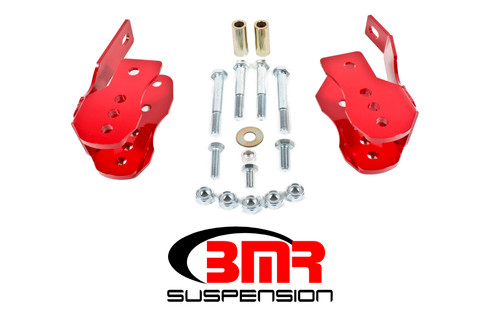 BMR 05-14 S197 Mustang Bolt-On Control Arm Relocation Brackets - Red