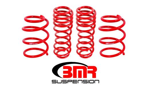 BMR 05-14 S197 Mustang GT Handling Version Lowering Springs (Set Of 4) - Red