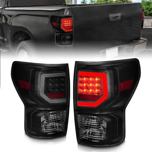 Anzo 07-11 Toyota Tundra Full LED Tailights Black Housing Smoke Lens G2 (w/C Light Bars)