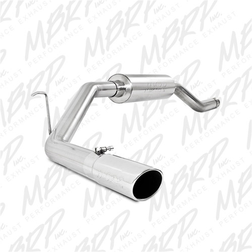MBRP 00-06 Toyota Tundra All 4.7L Models Resonator Back Single Side Exit Aluminized Exhaust System