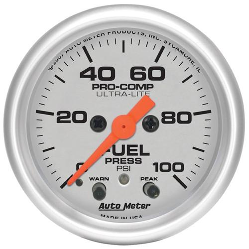 am3621 Autometer Sport-Comp II GM 52mm 0-100 PSI Mechanical Oil Pressure Gauge