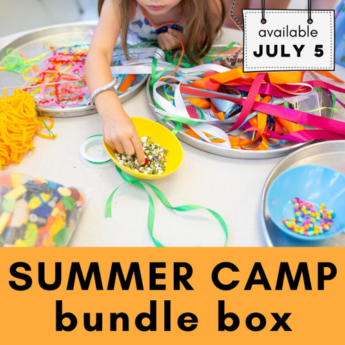 Sample Box - contents vary   Summer Camp Bundle Box - Easy Art Projects, Craft Supplies and Classes for Kids   small hands big art