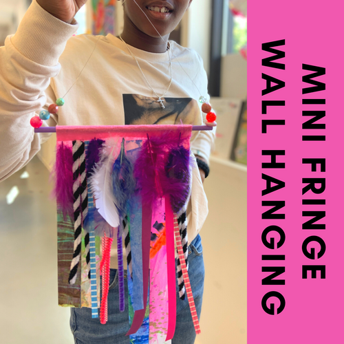 Paper Fringe Wall Hanging - Easy paper crafts for kids who enjoy stickers and beads | small hands big art