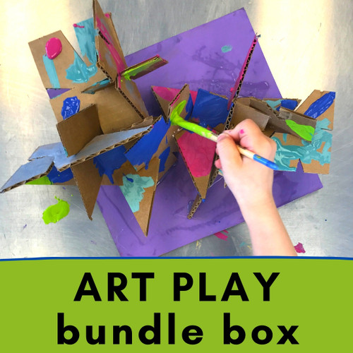 Art Play Bundle Box - Easy Crafts for Toddlers and Art for Preschoolers | small hands big art