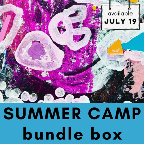 Summer Camp Bundle Box - Easy Art Projects, Craft Supplies and Classes for Kids | small hands big art